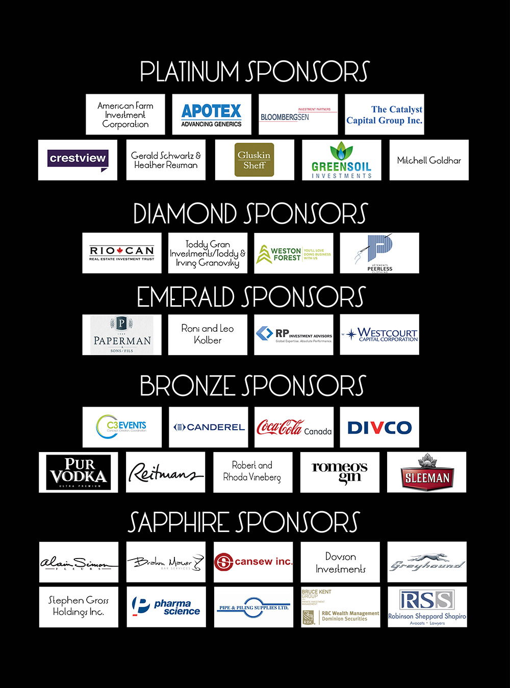 Big Graphic of All Sponsors 2016 Montreal ACTION smallest